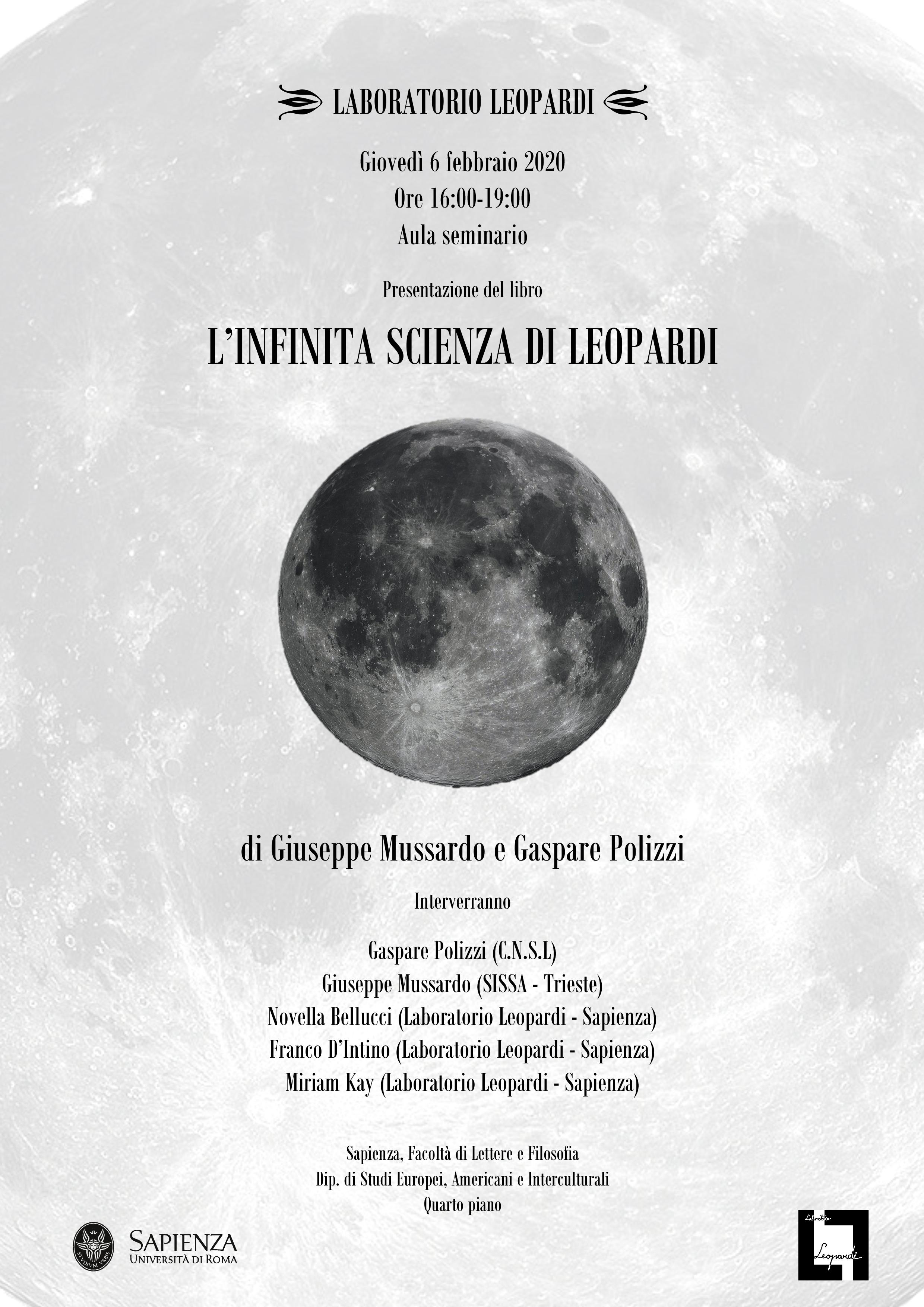 Presentazione del libro: L'infinita scienza di Leopardi